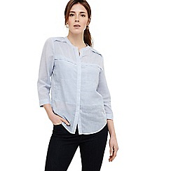 Phase Eight - Blue jayde stripe shirt
