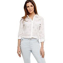 Phase Eight - White kym broidery shirt