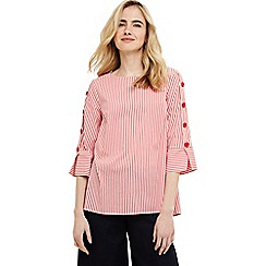 Phase Eight - Red penelope button blouse