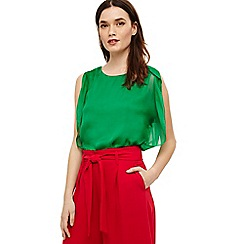 Phase Eight - Green angie angel sleeve blouse