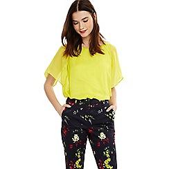 Phase Eight - Yellow eden silk blouse