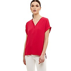Phase Eight - Pink vivian v neck blouse