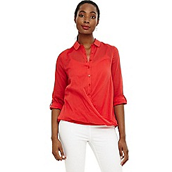 Phase Eight - Red poppy blouse