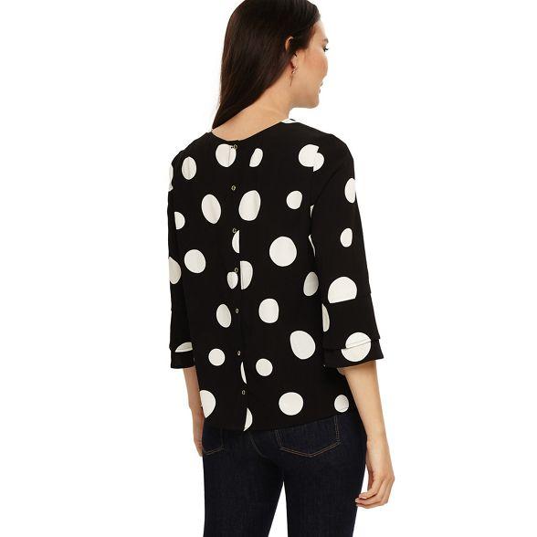 Eight Black and white blouse spot nico Phase ZwPqw