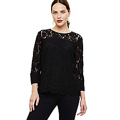 Phase Eight - Black Bettie Lace Blouse