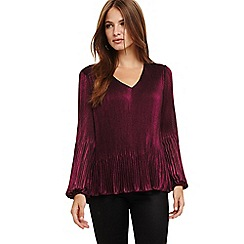 Phase Eight - Purple Ella metallic blouse