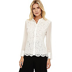 Phase Eight - Ivory sheron lace blouse