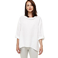 Phase Eight - White cowl neck linen blouse