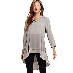Phase Eight - Grey demelza double layer blouse