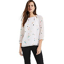 Phase Eight - White Evie-Rose Sequin Blouse