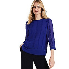 Phase Eight - Blue leyla embroidered blouse