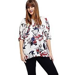 Studio 8 - Sizes 12-26 White layla floral top