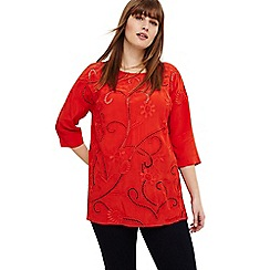 Studio 8 - Size 12-26 Chilli karlie embroidered top
