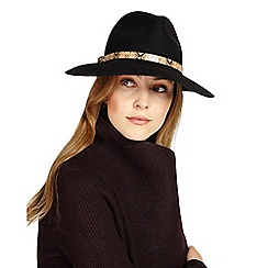 Phase Eight - Black Jessica wool fedora hat