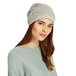 Phase Eight - Grey embellished beanie