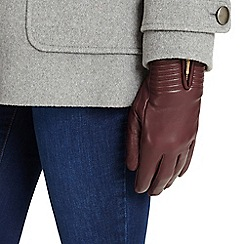 Phase Eight - Port zip leather gloves