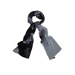 Phase Eight - Grey and Black elsie feather print scarf