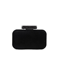 Phase Eight - Black sasha suede sparkle clutch