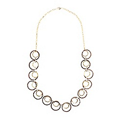 574788302 Phase Eight - Chocolate and Gold sia mixed metal ring necklaces