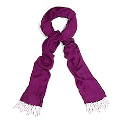 Phase Eight - Magenta diamond weave pashmina