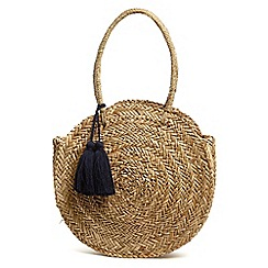Phase Eight - Natural Mimi straw shopper with tassels