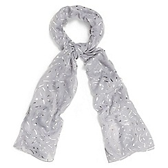 Phase Eight - Grey elin foil print scarf