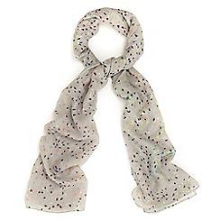 Phase Eight - Grey cressida scattered brushstroke scarf