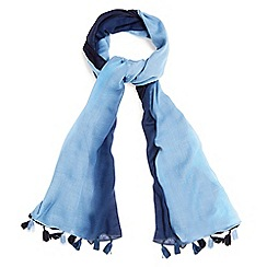 Phase Eight - Blue britney ombre tassel scarf
