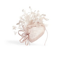 Phase Eight - Brown audrina feather pillbox fascinator