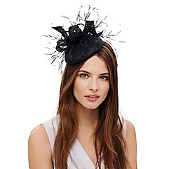Phase Eight - Blue alisha feather pillbox fascinator