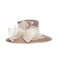 Phase Eight - Natural keke bow trim hat