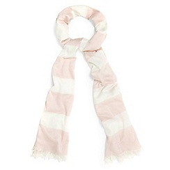 Phase Eight - Pink claudine pastel stripe scarf