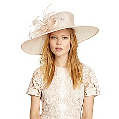 Phase Eight - Pink cecily flower trim hat