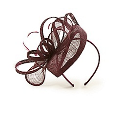 Phase Eight - Red cassie twisted bow pillbox fascinator