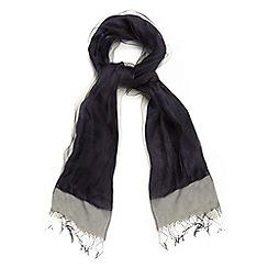 Phase Eight - Blue silk blend pashmina scarf