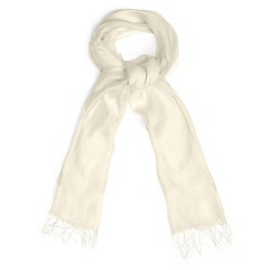 Phase Eight - Cream silk blend shawl