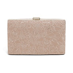 Phase Eight - Cream embroidered lace clutch bag