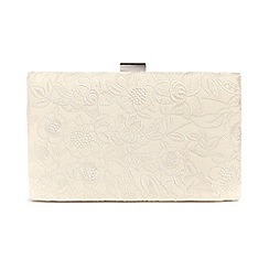 Phase Eight - Cream ceri embroidered lace clutch bag