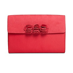 Phase Eight - Dark red ophelia flower trim clutch bag