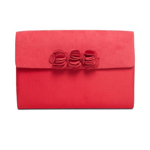 flower bag clutch red trim ophelia Phase Eight Dark xSqII0
