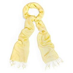 Phase Eight - Yellow diamond weave pashmina