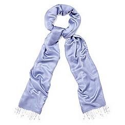 Phase Eight - Blue diamond weave pashmina