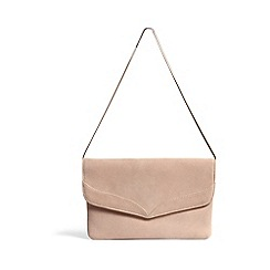 Phase Eight - Abi fold over suede clutch bag