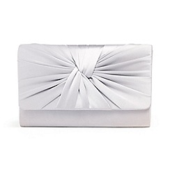 Phase Eight - Grey gemma twist front clutch bag