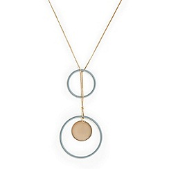 Phase Eight - Gold Hailey Coated Ring Long Necklace