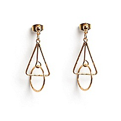 Phase Eight - Metallic Jasmine mini geo drop earrings