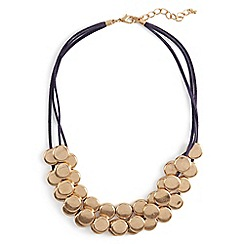 Phase Eight - Metallic blair multirow cord and disc necklace