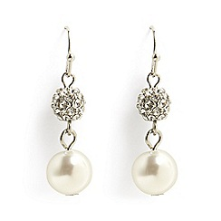 Phase Eight - Grey avalia faux pearl and pave drop earrings