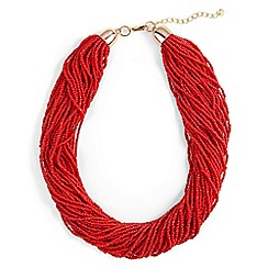 Phase Eight - Red harley bead multirow necklace