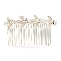 Phase Eight - Metallic harmony leaf hair comb